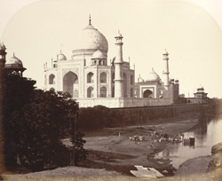The Taj, Agra, a near view from the river.